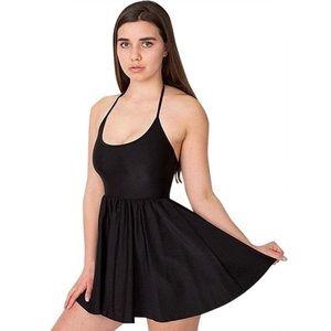 American Apparel Black Nylon Tricot Dress SZ XS